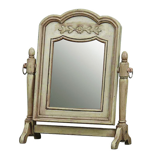[INT] 원목 침실 프렌치 프로방스 마케트리 회전 화장대 거울