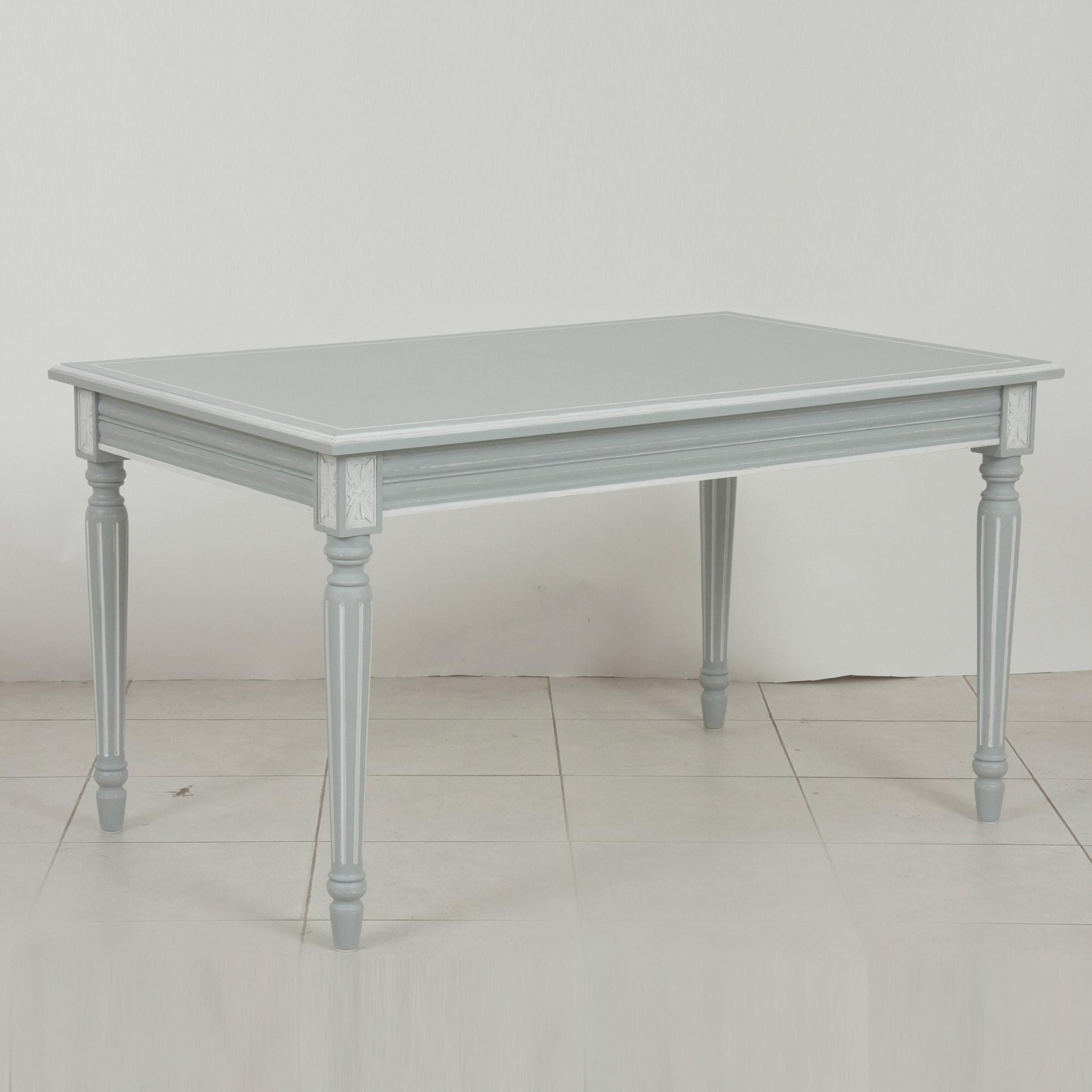 [INT] 원목 주방 프렌치 프로방스 웨일즈 1350 4인 식탁 테이블